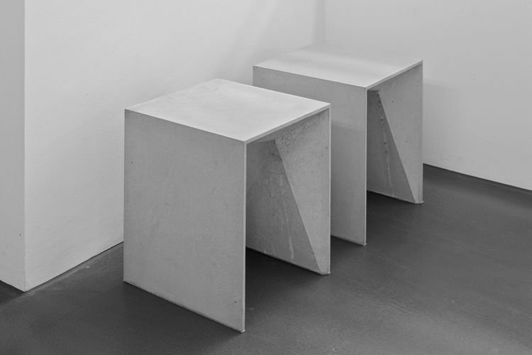 Deceptively Lightweight Concrete Furniture Concrete Stool