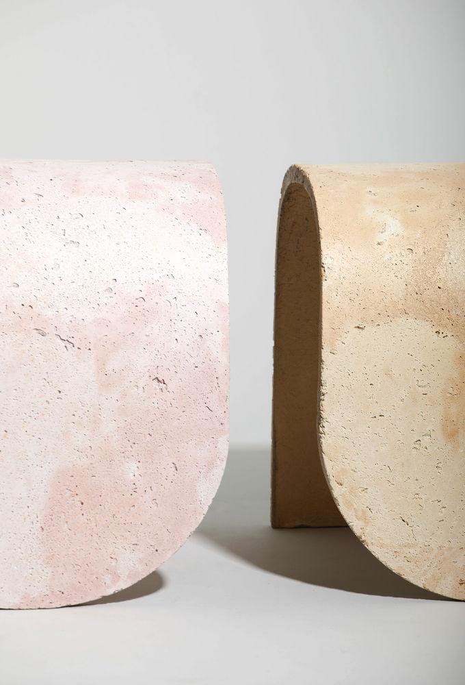 Pastel Concrete Stools