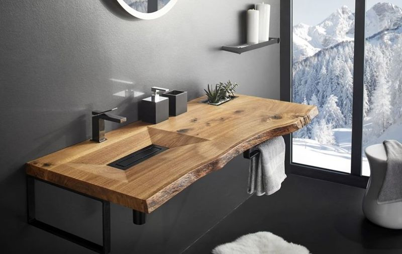 Naturalistic Wooden Washbasins