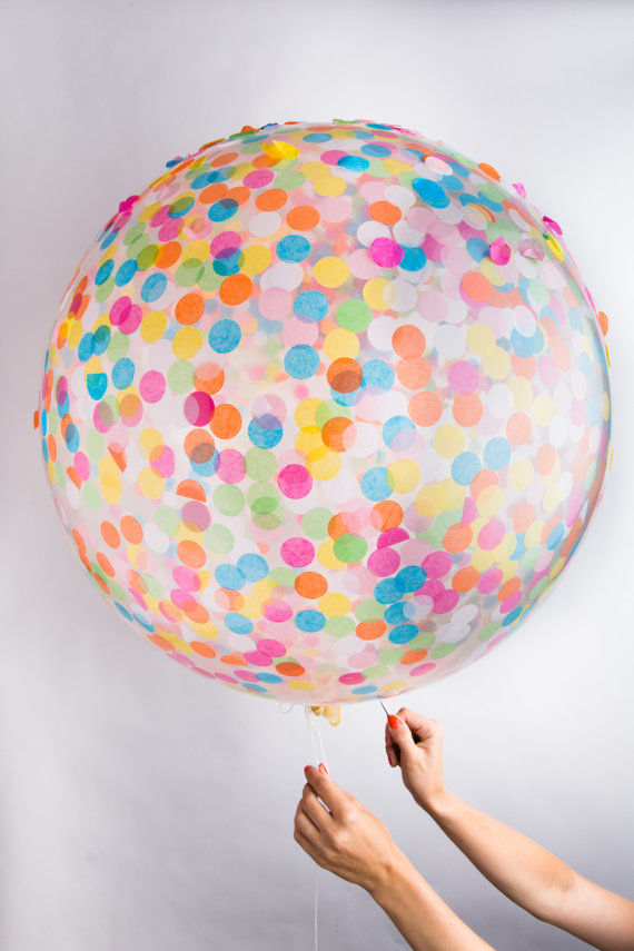 Oversized Confetti-Filled Balloons