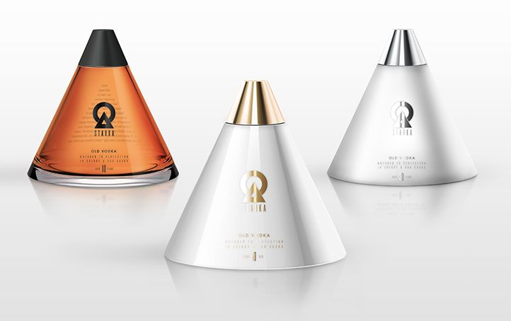 Conical Vodka Bottles