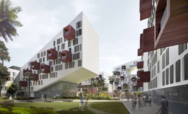 Angular Apartment Buildings