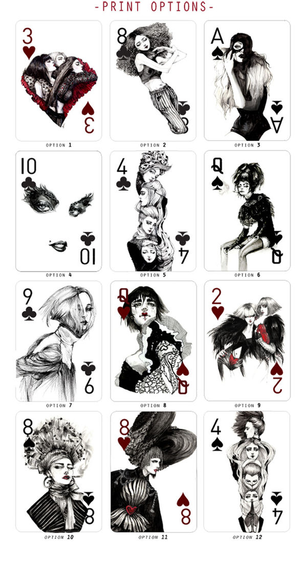 Fashion Illustration Playing Cards