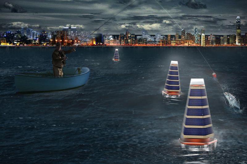Oceanic Solar-Powered Buoys
