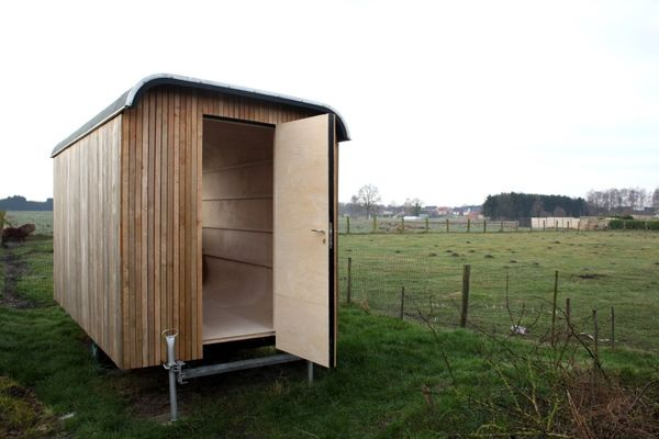Upcycled Construction Trailer Dwellings