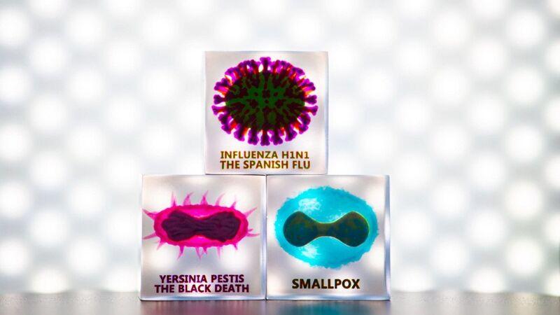 Striking 3D Virus Artwork