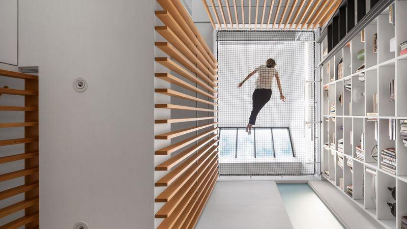 Trapeze-Inspired Atrium Embellishments