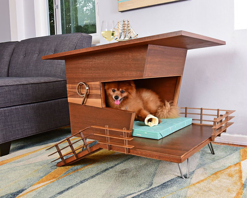 Wooden Contemporary Dog Houses