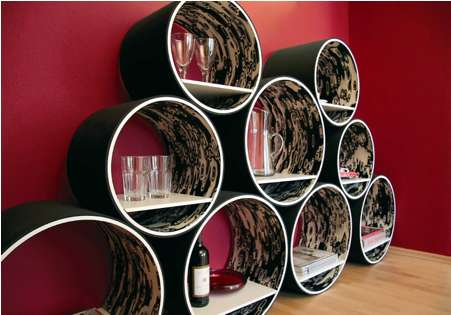Stackable Circular Storage Contemporary Flexi Shelving