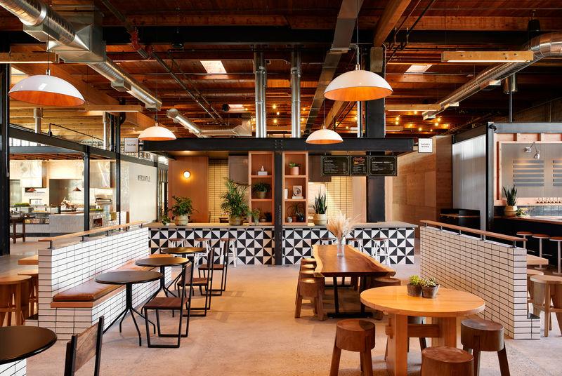 Sun-Lit Contemporary Food Halls