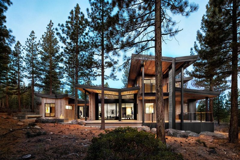 Contemporary rustic homes contemporary rustic for Modern rustic house designs