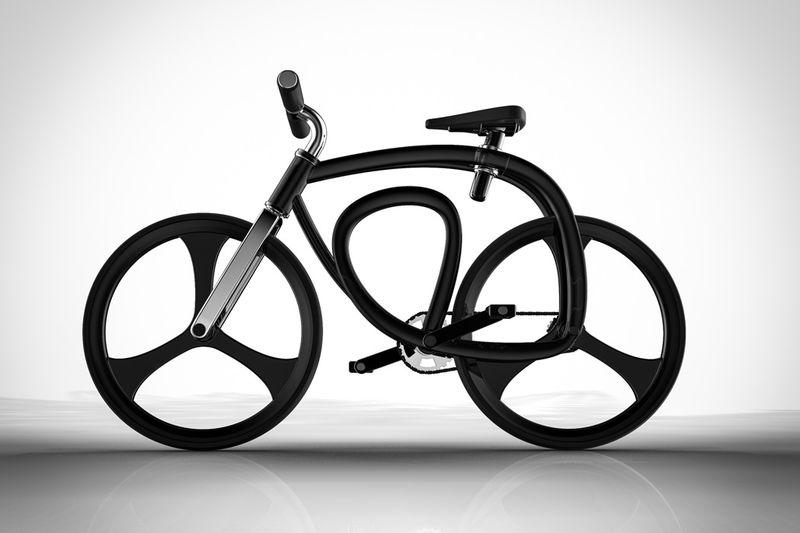 3D-Printed Looped Frame Bikes : Continuous Loop Bicycle
