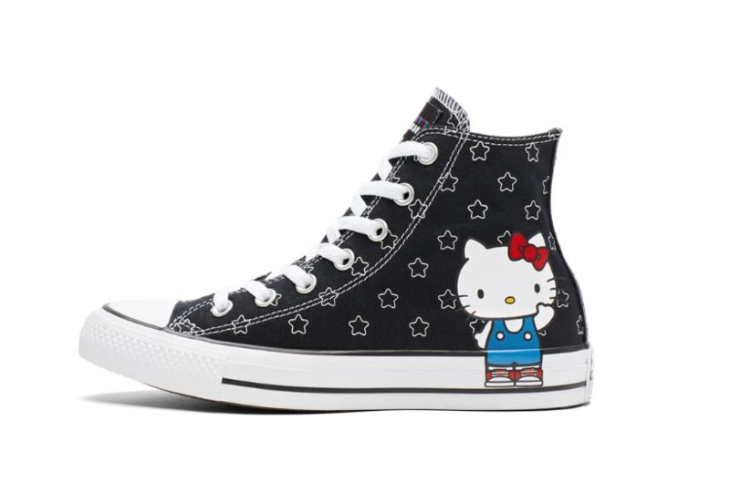 d078472cc66 Iconic Cat Sneaker Collaborations   converse and hello kitty