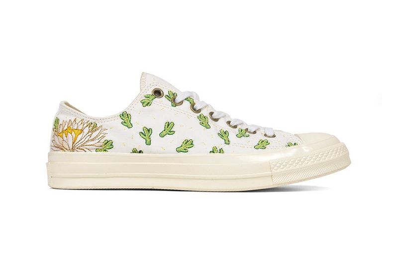 Cactus-Decorated Sneakers