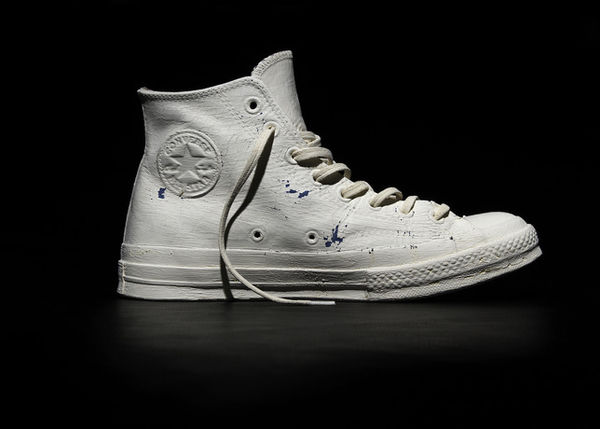 130b54a8b477 Paint-Cracking White Sneakers   Converse Maison Martin Margiela