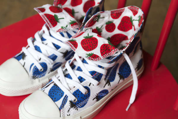 728197df3f88 Berry Covered Sneakers   converse marimekko