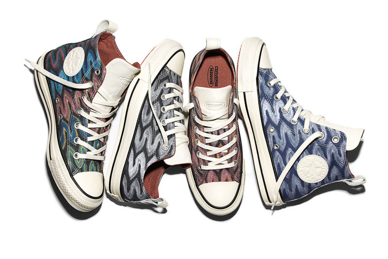 Zig-Zag Couture Sneakers : converse x