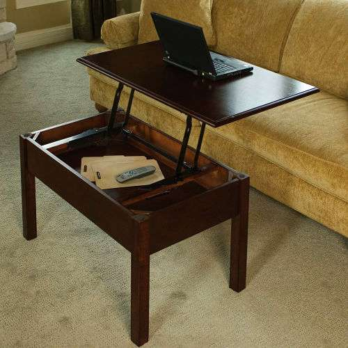 Transformer Coffee Table.Pop Up Workstations Convertible Coffee Table