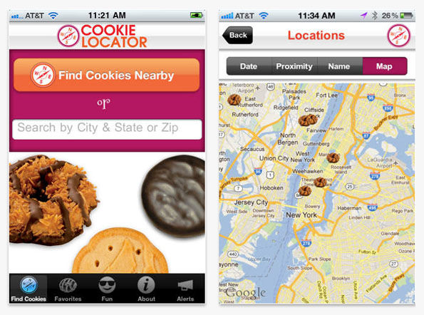 Biscuit Peddling Location Apps