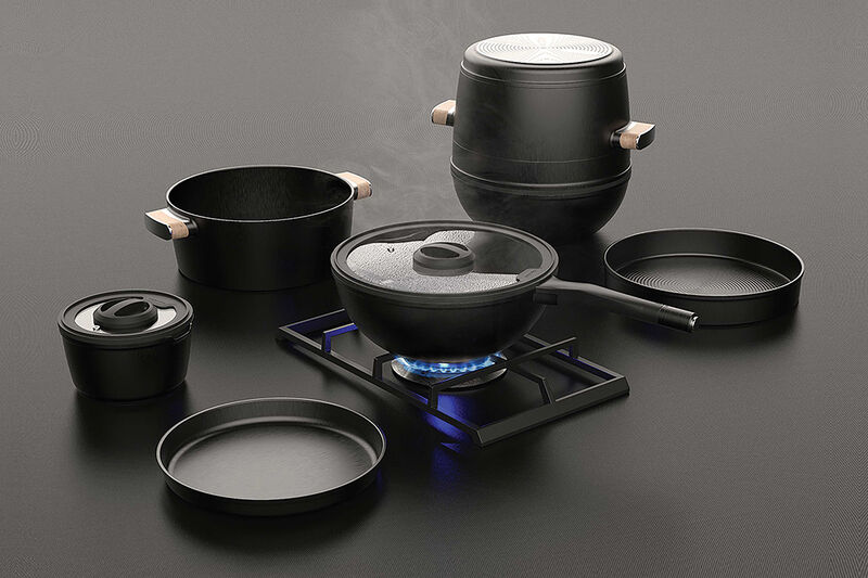Stacking All-in-One Cookware Sets