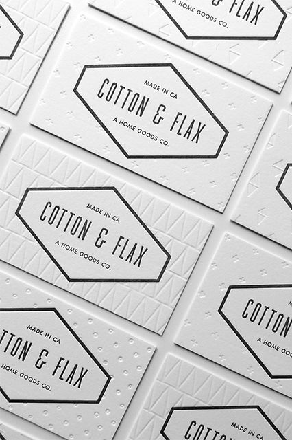 Subtly Textured Business Cards