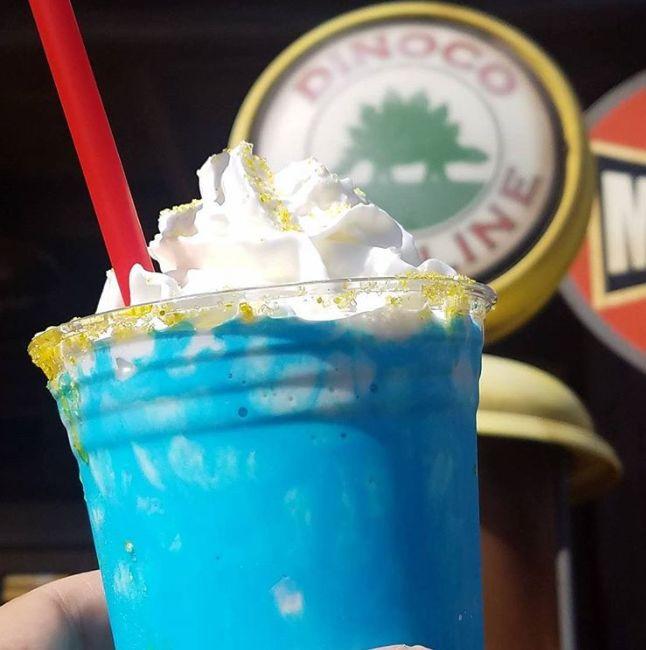 Blue Theme Park Milkshakes