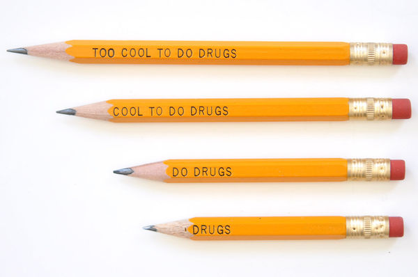 Pro-Narcotic Slogan Pencils