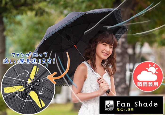 Cooling Fan Umbrellas