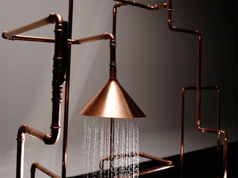 Copper pipe sculptures copper pipe for Copper pipe shower