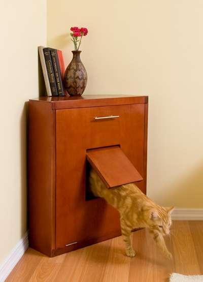 Concealed Litter Boxes The Corner Litter Cabinet