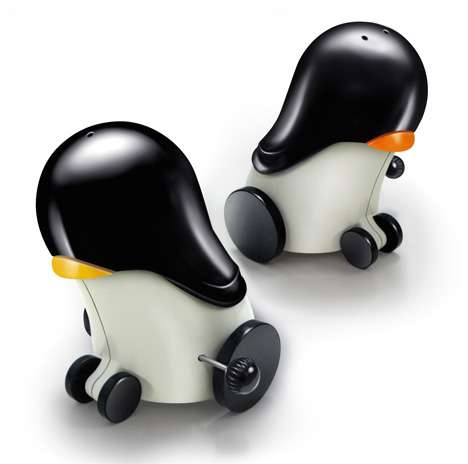 Robot Penguin Shakers