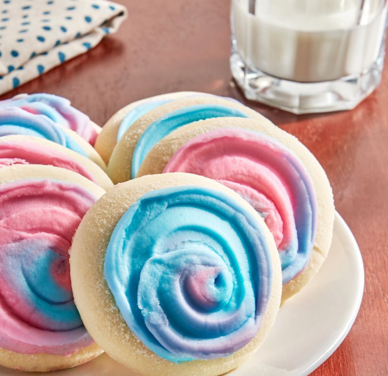 Frosted Cotton Candy Cookies