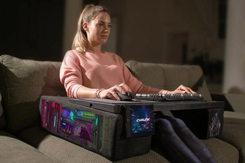 Cyberpunk-Inspired Couch Desks
