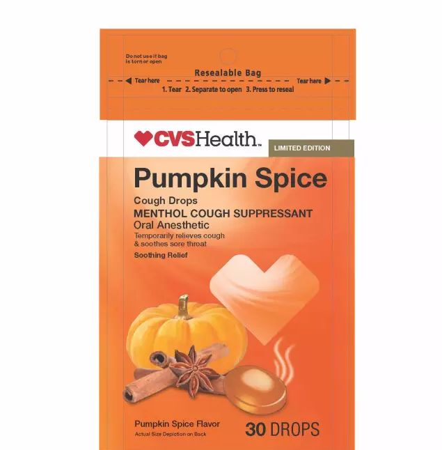 Spiced Pumpkin Cough Drops