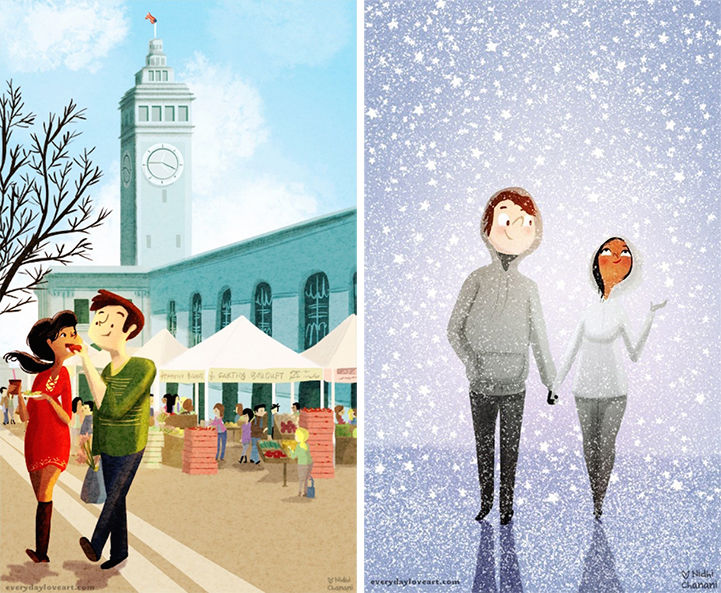 Endearing Couple Illustrations