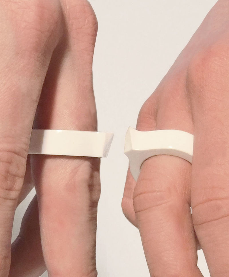 Porcelain Couple Rings
