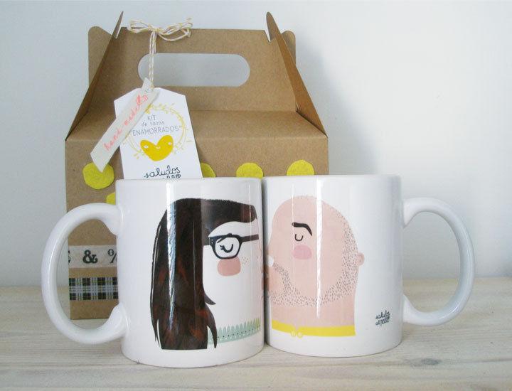 Customizable Kissing Mugs