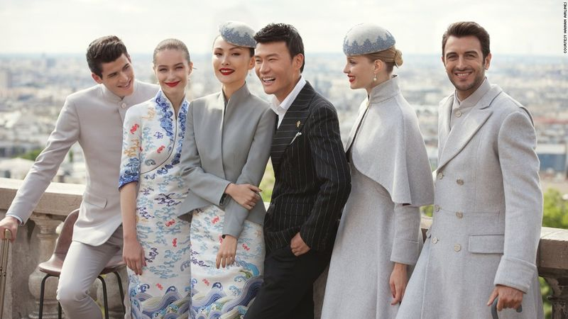 Couture-Inspired Airline Uniforms