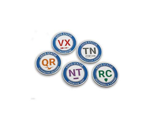 Wearable COVID-19 Status Pins