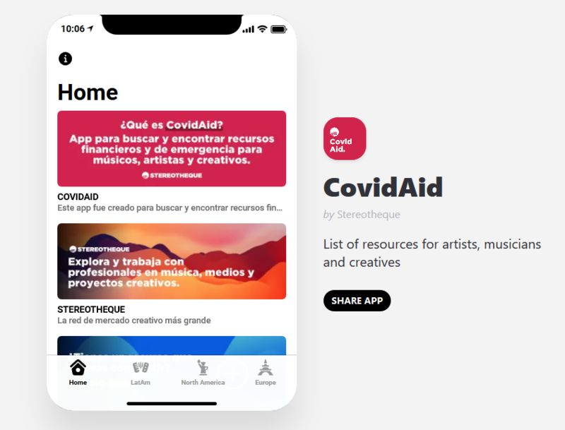 Artist-Supporting Pandemic Apps