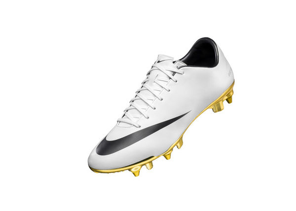 Gold-Cleated Soccer Shoes