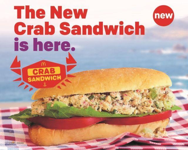 QSR Crab Salad Sandwiches