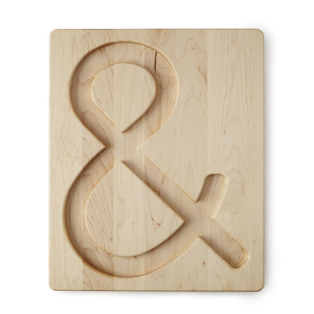 Ampersand-Shaped Serving Boards