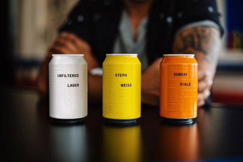 Embossed Craft Beer Cans