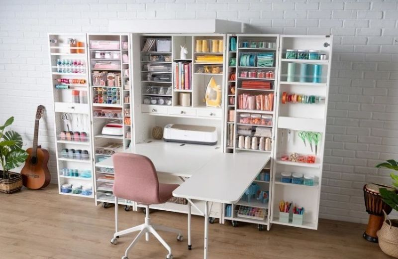 Maker-Friendly Crafter Cabinets