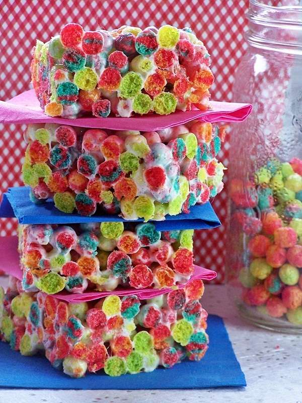 Multi-Hued Cereal Snacks