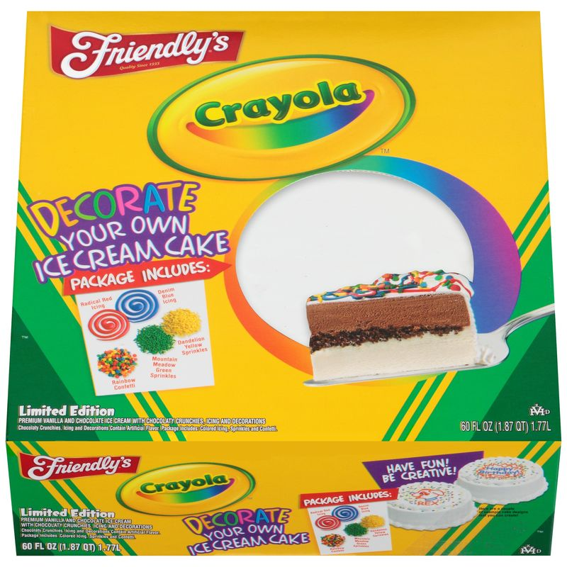 DIY Ice Cream Cakes : Crayola Ice Cream Cake