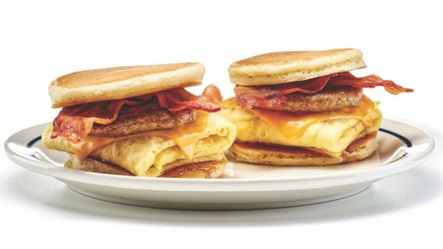 Breakfast Cake Sandwich Menus