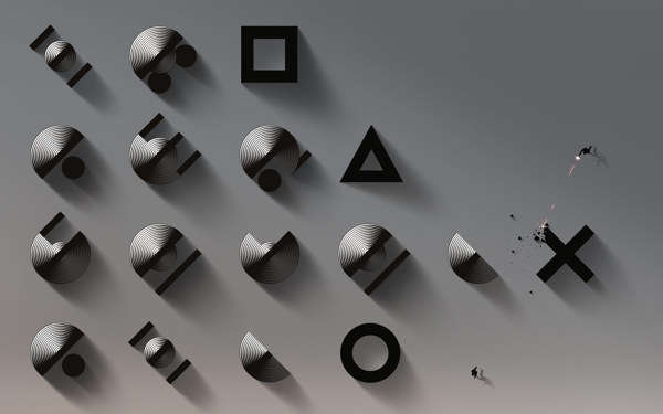 Typographic Console Backgrounds