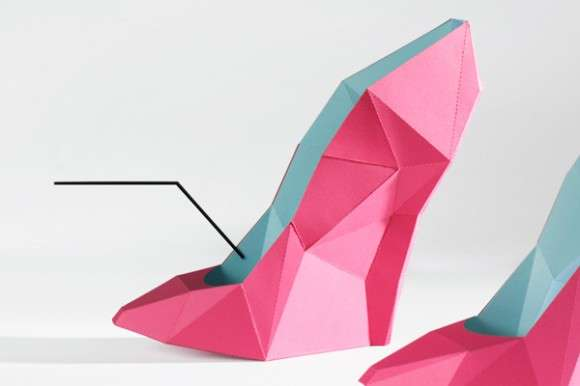 Geometric Paper Footwear